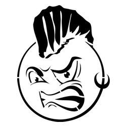 Stencil Ease - Mohawk Smiley Face Stencil - Mohawk Smiley Face Stencil - BASIC Stencils Collection
