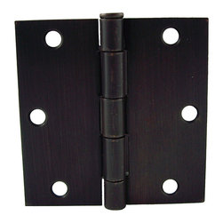 GlideRite - GlideRite 3.5-inch Square Corner Oil Rubbed Bronze Door Hinges (Pack of 12) - Update your doors with this 12-pack of interior residential full mortise steel door hinges from GlideRite hardware.