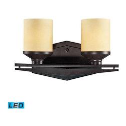 Elk Lighting - Elk Lighting 14092/2-LED Cordova Transitional Bathroom Light in Oiled Bronze - Elk Lighting 14092/2-LED Cordova Transitional Bathroom Light in Oiled Bronze