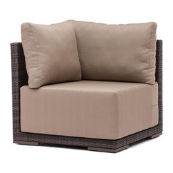 Zuo Modern - Zuo Modern 703021 Park Island Corner Brown - Sit in comfort on the Park Island Corner. Made from an aluminum frame with a polypropylene weave. The overstuffed cushions are UV and water resistant. Sink into the Park Island and enjoy!