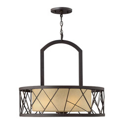 Frederick Ramond - Fredrick Ramond Nest 3-Light Chandelier - Nest finds its inspiration from patterns found in nature. This contemporary chandelier collection conveys an organic modern elegance in an Oil Rubbed Bronze finish complemented by distressed amber etched glass.