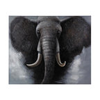 Joshua Marshal - African  Elephant - Oversized Oil On Canvas - AFRICAN  ELEPHANT - OVERSIZED OIL ON CANVAS