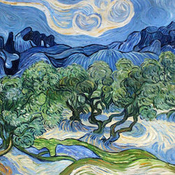 "overstockArt.com - Van Gogh - Olive Trees with the Alpilles in the Background - 30"" X 40"" Oil Painting On Canvas Hand painted oil reproduction of a famous Van Gogh painting, Olive Trees with the Alpilles in the Background. The original masterpiece was created in 1889. Today it has been carefully recreated detail-by-detail, color-by-color to near perfection. Vincent Van Gogh's restless spirit and depressive mental state fired his artistic work with great joy and, sadly, equally great despair. Known as a prolific Post-Impressionist, he produced many paintings that were heavily biographical. This work of art has the same emotions and beauty as the original by Van Gogh. Why not grace your home with this reproduced masterpiece? It is sure to bring many admirers!"