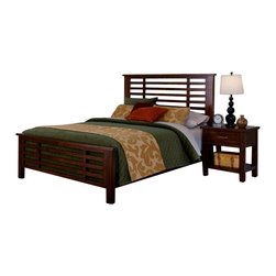 Home Styles - Home Styles Cabin Creek 3 Piece Bedroom Set in Chestnut Finish-Queen - Home Styles - Bedroom Sets - 54105020 - Our Cabin Creek collection conveys a reclaimed wood vintage feel.  Each piece is physically distressed by hand providing a unique one of a kind look.  The Cabin Creek3 Piece Bedroom Set by Home Styles are constructed of mahogany solids and veneers in a multi-step chestnut finish. Set includes One (1) Bed One (1) Nightstand and One (1) Media Chest.