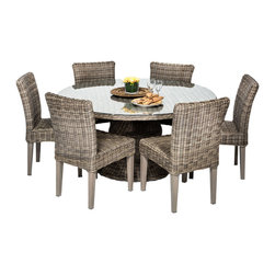 vintage stone 60 outdoor patio dining table with 6 chairs outdoor
