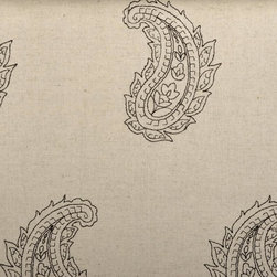 Embroidery - Jute Upholstery Fabric - Item #1013473-434.