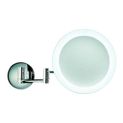 """Decor Walther - Decor Walther BS 60 Cosmetic Mirror - The BS 60 cosmetic mirror has been designed and made by Decor Walther.  The BS 60 cosmetic mirror of Decor Walther s a well-crafted processed  item for upscale bathroom. By the noble chrome surface of the vanity  mirror looks very valued and make applying makeup, shaving and other  activities easier and more enjoyable. Alternatively, you can choose  between a 3-fold or 5-fold magnification, which is represented by the  mirror surface (16cm diameter). Thus a perfect illumination is  guaranteed, many small LEDs arranged around the mirror and emit a  natural light. The lighting can be switched via switch on the back of  the mirror.  Product Details:  The BS 60 cosmetic mirror has been designed and made by Decor Walther.  The BS 60 cosmetic mirror of Decor Walther s a well-crafted processed item for upscale bathroom. By the noble chrome surface of the vanity mirror looks very valued and make applying makeup, shaving and other activities easier and more enjoyable. Alternatively, you can choose between a 3-fold or 5-fold magnification, which is represented by the mirror surface (16cm diameter). Thus a perfect illumination is guaranteed, many small LEDs arranged around the mirror and emit a natural light. The lighting can be switched via switch on the back of the mirror.  Details:                                      Manufacturer:                                      Decor Walther                                                                  Designer:                                     In House Design                                                                  Made in:                                     Germany                                                                  Dimensions:                                      Height: 7.87"""" (20 cm ) X Depth: 15.5"""" (39.5 cm)                                                                   Light bulb:                                      21 x LEDs Max 3W           """