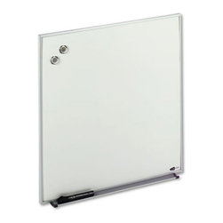 Quartet - Quartet 23 x 23 in. Magnetic Dry Erase Board Multicolor - QRTM2323 - Shop for Dry Erase Boards from Hayneedle.com! Impress your colleagues by using the Quartet 23 x 23 in. Magnetic Dry Erase Board to post messages. This magnetic board works as a bulletin board and a dry erase board. It comes with aluminum frame that adds style and durability to the erase board. A wall mounting hardware helps you to hang the board vertically or horizontally to suit your needs. The board comes with a dry erase marker magnets and an attachable marker tray.About United StationersDedicated to making life in the office more organized efficient and easier United Stationers offers a wide variety of storage and organizational solutions for any business setting. With premium products specifically designed with the modern office in mind we're certain you will find the solution you are looking for.From rolling file carts to stationary wall files every product in the United Stations line is designed with one simple goal: to improve office efficiency. In turn you will find increased productivity happier more organized employees and an office setting that simply runs better with the ultimate goal of increasing bottom line profits.