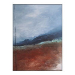 Abstract Landscape Modern Minimalist Acrylic Painting on Canvas - 30x40 - Original Abstract Landscape Painting on Canvas - Gina Perillo