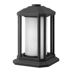 Hinkley Lighting - 1397BK Castelle Outdoor Post Lamp, Black - Modern Contempo Outdoor Post Lamp in Black from the Castelle Collection by Hinkley Lighting