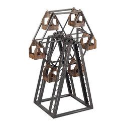 Sterling Industries - Sterling Industries Bradworth-Industrial Ferris Wheel Candle Holder (138-008) - Sterling Industries Bradworth-Industrial Ferris Wheel Candle Holder (138-008)