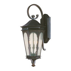 Capital Lighting - Traditional Classic 3 Light Outdoor Wall LanternInman Park Collection - Features: Specifications: Requires (3) x 60 Watt Candelabra Base Bulbs (Not Included) Since 1990, Capital Lighting has worked with residential, commercial, hotel and construction clients.