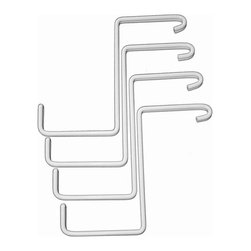 HyLoft - HyLoft Add-On Storage Hooks (Set of 4) - HyLoft ceiling unit storage z-hooks are the perfect add-on accessory to an existing HyLoft overhead storage unit, and can be attached quickly and easily, no tools required. They're made of durable steel with an attractive scratch resistant finish to provide a strong, safe, and secure way to hang bags, extension cords, sports equipment, and much more.