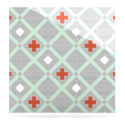 "Kess InHouse - Pellerina Design ""Mint Lattice Weave"" Gray Mint Metal Luxe Panel (8"" x 8"") - Our luxe KESS InHouse art panels are the perfect addition to your super fab living room, dining room, bedroom or bathroom. Heck, we have customers that have them in their sunrooms. These items are the art equivalent to flat screens. They offer a bright splash of color in a sleek and elegant way. They are available in square and rectangle sizes. Comes with a shadow mount for an even sleeker finish. By infusing the dyes of the artwork directly onto specially coated metal panels, the artwork is extremely durable and will showcase the exceptional detail. Use them together to make large art installations or showcase them individually. Our KESS InHouse Art Panels will jump off your walls. We can't wait to see what our interior design savvy clients will come up with next."