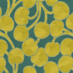 Brentano Upholstery Fabric, Green Eyes - Brentano Green has developed a line of ecofriendly fabrics that complies with green standards. This Bing design is one of my favorites!