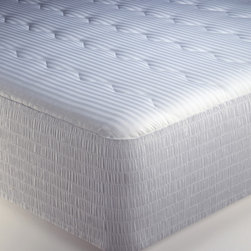 Simmons Beautyrest - Beautyrest 300 Thread Count Pima Cotton with Stain Release Mattress Pad - Enhance your mattress with this 300-thread count pima cotton mattress pad with stain release. With 12-ounces of polyester fiberfill,this mattress pad will add an additional layer of comfort to any mattress.
