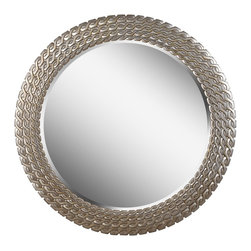 Kenroy - Kenroy Bracelet Wall Mirror X-61016 - Bracelet holds a unique design and flare. At 35 inches wide, Bracelet is sure to make an impact to any bedroom, living space, or hallway. Framed with a brushed silver/golden finish and a unique braided design element, this mirror will be an inimitable addition to your home.
