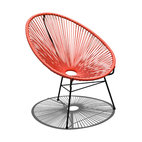Acapulco Patio Chair, Atomic Tangerine
