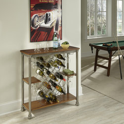 None - The Olreans Wine Storage Rack - Inspired by 18th century French Creole cottages,the slotted shelves and metal casted legs are reminiscent of French Quarter architecture. The Orleans Wine Rack by Home Styles is the perfect additon to any home d�cor.