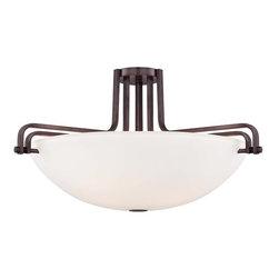 Metropolitan - Metropolitan N6621-590 Industrial 4 Light Industrial Bronze Semi-Flush Mount Cei - Features: