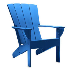 Fan Back Adirondack Chair, Blue Grotto