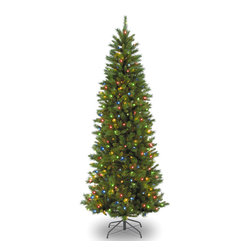 None - 7-foot Georgian Fir Slim Hinged Tree with 450 Multi Lights - Decorating for the holidays just got easier with this 7-foot Georgian fir tree. Complete with 45 clear lights and hinged branches for easy assembly,this tree is the perfect accompaniment to this year's Christmas festivities.