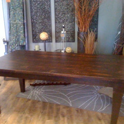 Reclaimed Wood Dining Room Tables - Reclaimed birch top