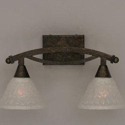 Toltec Lighting Bow Bronze Bath Bar With Italian Bubble