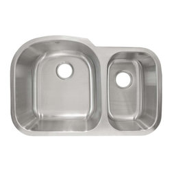 LessCare - Undermount Stainless Steel Double Basin Kitchen Sink L201R - *Condition: New