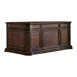Hooker Furniture - Hooker Furniture Adagio Executive Desk - Hooker Furniture - Executive Desks - 509110563 - Grand scale, classic design and soft, flowing shapes are married with a rich, dark finish to give birth to the stunning Adagio collection.