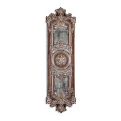 Uttermost - Uttermost Domenica Antique Mirror 13529 P - This decorative wall decor features heavily antiqued mirrors accented by ornate framing finished in lightly distressed chestnut brown with a heavy gray glaze. May be hung horizontal or vertical.