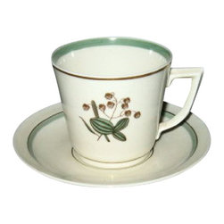 Royal Copenhagen - Royal Copenhagen Quaking Grass Cup & Saucer Set - Royal Copenhagen Quaking Grass Cup & Saucer Set