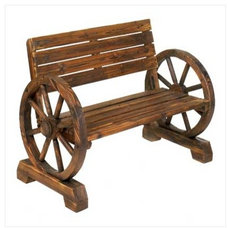 Rustic Outdoor Benches by Gifts Galore And More