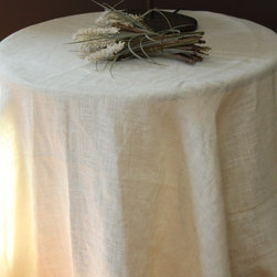 Couture Dreams Solid Jute Ivory Tablecloth - Couture Dreams Solid Jute tablecloths are a staple for any household.  Couture Dreams uses only the softest, highest quality jute offered in the industry.  Offered in 100% premium quality all natural jute fabric in two different colorways.