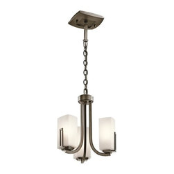 "Kichler - Kichler 42424SWZ Leeds Single-Tier Mini Chandelier w/3 Lights - 72"" Chain - Kichler 42424 Leeds Pendalette"