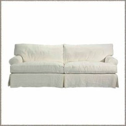 Slipcovered Furniture - The Montauk, our most popular sofa, makes you want to curl up or stretch out - relaxation guaranteed. Oversized but not too deep. The low roll arms make fabulous headrests for napping. Numerous configurations are possible