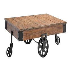 Stein World - Stein World Popular Estate Cart Cocktail, Reclaimed Wood - Embodying the best of reclaimed wood and industrial styling, this group is distinguished by its mobility and multi-functionality.