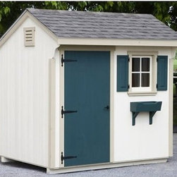 Lancaster County Barns 8 x 6 ft. Quaker Storage Shed - Additional featuresIncludes illustrated step-by-step assembly instructionsInterior measures: 7.3W x 5.3D x 7.5H ft.Door measures: 2.8W x 5.7H ft.Includes 5/8-inch flooring (5 ply : 1 clear side)Customer must supply shingles, paint or stainCustomer supplies all tools required for assembly Find a place to store everything from the garden hose to the badminton net with the Lancaster County Barns 8 x 6 ft. Quaker Storage Shed. With an interior storage space of just over 7 x 5 feet, this storage shed will be capable of storing it all. It arrives to you in pre-assembled panels so you just piece it together, paint or stain as you wish, and you're all set. You'll love the charming features like barn strap door hinges and window shutters that make this shed more than just a place to hide the clutter.About Lancaster County BarnsBuilt in proud Amish tradition, the products of Lancaster County Barns are from the heart of Lancaster, Penn., home of Amish craftsmen. Makers of high quality wood horse barns, storage sheds, chicken coops, playhouses, and more, Lancaster County Barns is committed to excellence and customer service. They custom build and ship structures around the world and have been touted by the Philadelphia Home and Gardens Magazine, Penn National Horse Show, and other establishments. Let Lancaster County Barns provide you with old-fashioned quality at a fraction of the price, with a resulting structure you'll be proud to own.Please note this product does not ship to Pennsylvania.