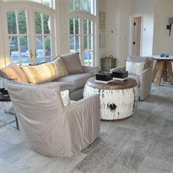 Private Residence, Charlotte NC - Walker Zanger Walks Gray 12x24 Porcelain