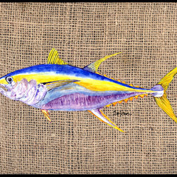 Caroline's Treasures - Fish - Tuna Indoor or Outdoor Mat 24 x 36 Doormat - Indoor / Outdoor Mat 24 x 36 - 24 inches by 36 inches. Permanently dyed and fade resistant. Great for the front door or the back door. Use this mat inside or outside. Use a garden hose or power washer to chase the dirt off of the mat. Do not scrub with a brush. Use the Vacuum on floor setting. Made in the USA. Clean stain with a cleaner that does not produce suds.