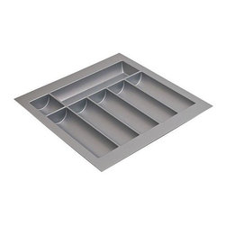 Hafele - 18 in. Cutlery Tray in Silver - Can be trimmed to fit drawer.