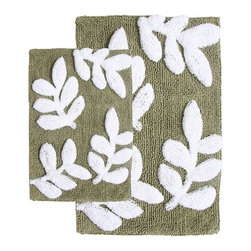 Chesapeake Merchandising - Chesapeake 2 pc. Monte Carlo Bath Rug Set - 35140 - Shop for Mats and Rugs from Hayneedle.com! With its uber-textured contrasting leaf pattern and 100% thirsty cotton construction the Chesapeake 2 pc. Monte Carlo Bath Rug Set is a gorgeous set for your master bath. You get two bath rugs with handy latex backing to keep them in place. These machine-washable rugs are easy to care for too. Simply wash separately in cold water on gentle add non-chlorine bleach when needed and tumble dry on low. Choose from several color options.About Chesapeake Merchandising Inc.Dan Arora is a second-generation entrepreneur with a family background in quality textiles. He established Chesapeake Merchandising in 1995 to provide customers with sumptuous bath accent and area rugs as well as luxurious table linens and bedspreads. Chesapeake has a liaison office in India with a team of professionals committed to finding quality stylish textiles. This team keeps close watch on sourcing the finest raw materials exercising control over dyeing and weaving and completing the finishing stages to ensure there are no compromises when it comes to quality.