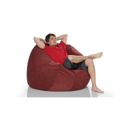 """jaxx - Medium Sac Bean Bag Lounger - Features: -100% Shredded furniture grade urethane foam / nylon liner / polyester microsuede / premium microfiber exterior cover.-Designer bean bag chair.-Comfortable seating options for kid's rooms, family rooms, home theaters and dorms.-Liners are nylon rip stock with a child safety zipper.-Covers zip off for machine washing.-A modern version of the beanbag chair.-It represent a more savvy, stylish and comfortable seating alternative.-Create a relaxed, informal setting or liven up your home theatre, your gaming room or playroom.-Great furniture for apartment dwellers or young modern hipsters who entertain guests frequently.-Earth friendly.-Made in the USA.-Collection: Jaxx Bean Bags.-Distressed: No.-Country of Manufacture: United States.-Material: Microsuede.-Fill Included: Yes -Fill Material: Urethane foam..-Removable Cover: Yes.-Product Care: Removable cover: machine wash cold, tumble dry..Dimensions: -Overall Product Weight: 32 lbs.-Overall Height - Top to Bottom: 30"""".-Overall Width - Side to Side: 48"""".-Overall Depth - Front to Back: 48"""".Warranty: -Product Warranty: 1 year manufacturer parts warranty."""
