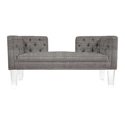 Rojo16 - Provence Sofa - Rojo 16 Cote D'Azure Provence Sofa is more than comfortable, making a dramatic impression in a room. This sofa has an elegant hint of the French Riviera and tufted upholstery. This stylish sofa stands on clear-acrylic legs that will perfectly shine and give uniqueness to your room. Available in three colors.