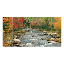 Picture-Tiles, LLC - Autumn Photo Kitchen Bathroom Tile Mural  18 x 36 - * Autumn Photo Kitchen Bathroom Tile Mural 1047