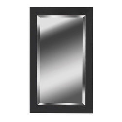 Kenroy Home - Kenroy Home 60095 40 Inch Height 24 Inch Width Rectangular Wall Mirror - 40 Inch Height 24 Inch Width Rectangular Wall Mirror from the Black Ice CollectionKenroy Mirrors utilize a wide variety of materials, and create artistic elements that complement your home furnishings as well as make their own statements. Look to Kenroy Home for the finest in decor, performance and value.Features: