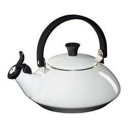 Le Creuset - Le Creuset Zen Whistling Tea Kettle - Low and wide for faster heating, with a sleek conical shape Fixed whistle Stay-cool phenolic handle and knob Capacity: 1.6 quarts Phenolic handles and knobs are heat resistant, so you do not come into contact with any hot surfaces