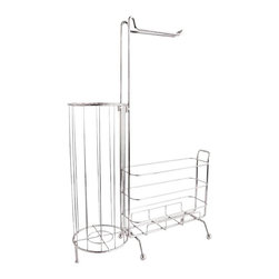 Home Decorators Collection - WC Bath Caddy - Want an all-in-one organizer for the bathroom? I love the sleekness of this piece, and it looks like it holds everything.
