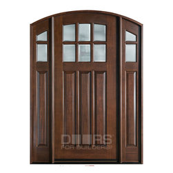 Classic Collection (Custom Solid Wood Entry Doors) - Custom Front Entry Door - Single with 2 Sidelites - Classic Collection - Doors For Builders Inc.