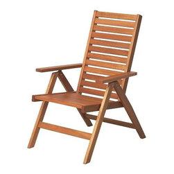 ÄPPLARÖ Reclining chair - Reclining chair, acacia
